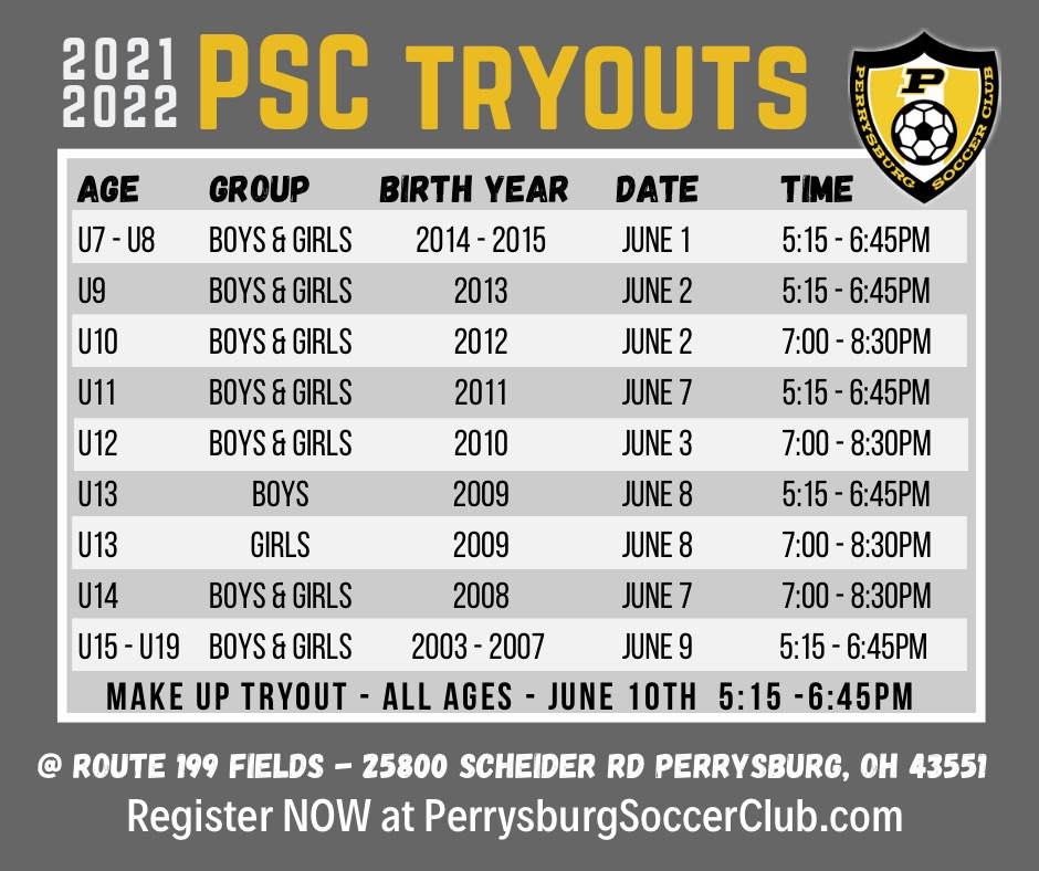 2021-2022 PSC Travel Tryouts